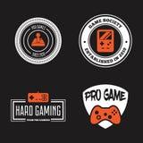 Ensemble de vecteur de manette de jeu de jeu dans le style de vintage Concevez les éléments, les icônes, le logo, les emblèmes et Photographie stock libre de droits