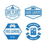 Ensemble de vecteur de manette de jeu de jeu dans le style de vintage Concevez les éléments, les icônes, le logo, les emblèmes et Photographie stock