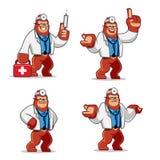 Ensemble de vecteur de mascotte de docteur Gorilla illustration de vecteur