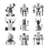 Ensemble de vecteur mignon de robots de vintage illustration libre de droits