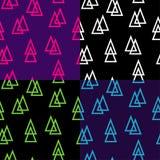 Ensemble de vecteur de modèle sans couture des triangles illustration de vecteur
