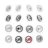 Ensemble de vecteur moderne de collection Aucun type multi d'icône saine de 3d illustration stock