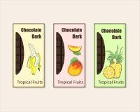 Ensemble de vecteur de paquet de barre de chocolat illustration libre de droits