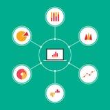 Ensemble de vecteur plat infographic de conception de graphiques de gestion Photos libres de droits