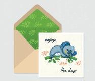 Ensemble de vecteur pour la conception Enveloppe et carte avec le koala mignon Photo libre de droits