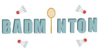 Ensemble de vecteur de raquette et de navettes de badminton Photo libre de droits