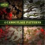 Ensemble de vecteur sans couture de modèle du camouflage 4 Image libre de droits