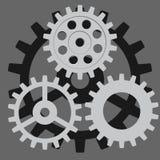 Ensemble de vecteur Vitesse, dent, pignon, roue Images libres de droits