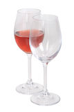 Ensemble de verres de vin Photo stock