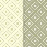 Ensemble de vert olive de modèles géométriques sans couture Image libre de droits