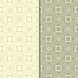 Ensemble de vert olive de modèles géométriques sans couture Image stock