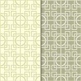Ensemble de vert olive de modèles géométriques sans couture Photographie stock libre de droits