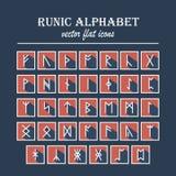 Ensemble de vieilles runes de Scandinave des norses Image stock