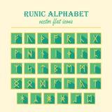 Ensemble de vieilles runes de Scandinave des norses Image libre de droits