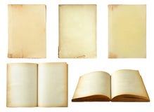 Ensemble de vieux livre d'isolement sur le blanc Images stock