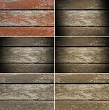 Ensemble de vieux panneaux de bois de construction et de peinture croustillante Photographie stock libre de droits