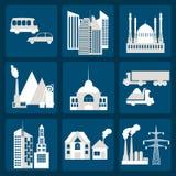 Ensemble de ville d'infrastructure d'icônes