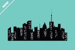 Ensemble de villes de vecteur Photo libre de droits