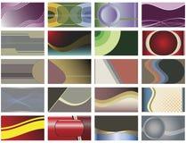 Ensemble de vingt milieux abstraits de vecteur. illustration de vecteur