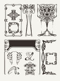 Ensemble de vintage Art Deco Design Elements Image libre de droits