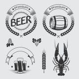 Ensemble de vintage de labels de bière Images stock