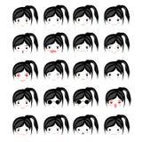 Ensemble de visages avec diverse émotion Image libre de droits
