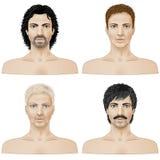 Ensemble de visages de plan rapproché Photos stock