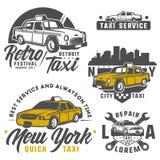 Ensemble de voiture de taxi pour des emblèmes, le logo et la conception Images libres de droits