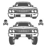 Ensemble de voitures de lowrider, de lowrider, de machine de lowrider, de lowrider pour des emblèmes et de conception Photo stock