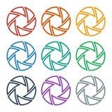 Ensemble de volets colorés Photos libres de droits