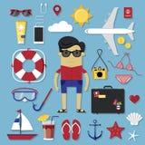 Ensemble de voyage Image libre de droits