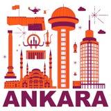 Ensemble de voyage de culture d'Ankara illustration libre de droits