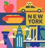 Ensemble de voyage de culture de New York illustration stock