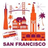 Ensemble de voyage de culture de San Francisco illustration libre de droits