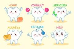 Ensemble de web design dentaire illustration libre de droits
