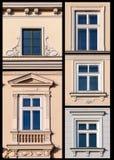Ensemble de Windows de Cracovie, Pologne Photographie stock libre de droits