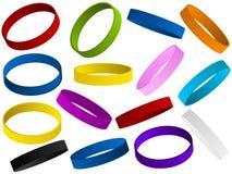 Ensemble de wristband coloré Photographie stock libre de droits