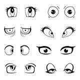 Ensemble de yeux de dessin animé Images libres de droits