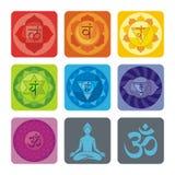 Ensemble de yoga illustration libre de droits