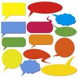 Ensemble de zones de dialogue Images libres de droits
