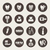 Ensemble dentaire d'icône Image stock