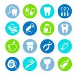 Ensemble dentaire d'icône de Web Image stock