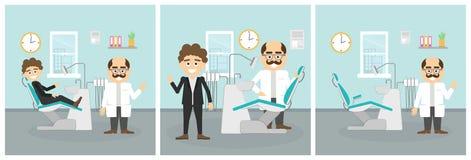 Ensemble dentaire de coffret illustration stock