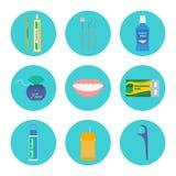 Ensemble dentaire de vecteur d'hygiène Photo stock