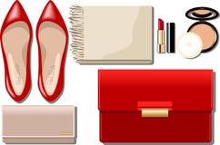 Ensemble des accessoires des femmes Image stock