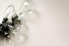 Ensemble des ampoules électriques de vintage différent photos stock