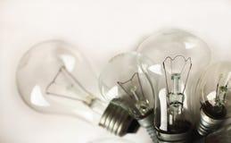 Ensemble des ampoules électriques de vintage différent image stock