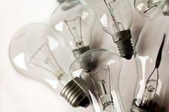 Ensemble des ampoules électriques de vintage différent photo stock