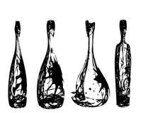 Ensemble des bouteilles stylisées Images libres de droits