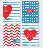 Ensemble des cartes pour votre conception Amour Illustration Libre de Droits